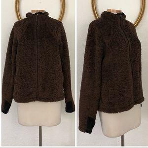 Mountain Hardwear Brown Teddybear Fleece Zip Up